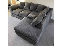 STYLISH BRAND NEW DYLAN JUMBO CORD CORNER AND 3+2 COUCH AVAILABLE IN STOCK.ORDER NOW