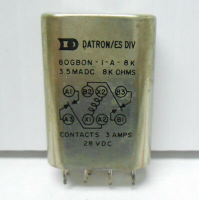 80gb0n-1-a-8k Datron Relay 8 Kilohms 3 Amps28 Vdc New Old Stock