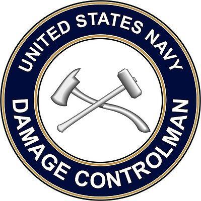 "Navy Damage Controlman DC 5.5"" Die Cut Sticker / Decal 'Officially Licensed'"
