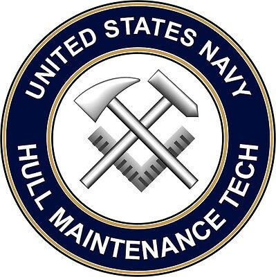 "Navy Hull Maintenance Tech HT 5.5"" Die Cut Sticker 'Officially Licensed'"