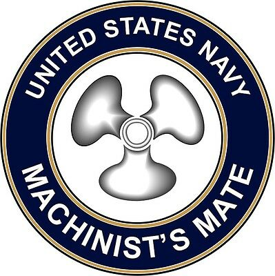 "Navy Machinists Mate MM 5.5"" Die Cut Sticker / Decal"