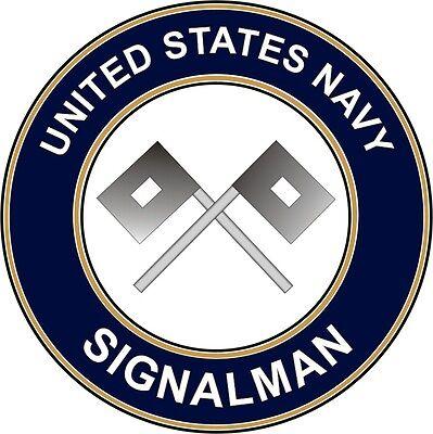 """Navy Signalman SM 5.5"""" Die Cut Sticker 'Officially Licensed'"""