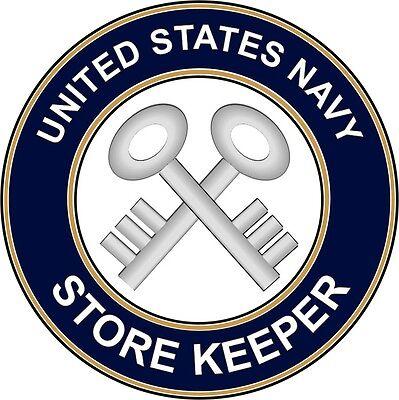 """Navy Storekeeper SK 5.5"""" Die Cut Sticker 'Officially Licensed'"""