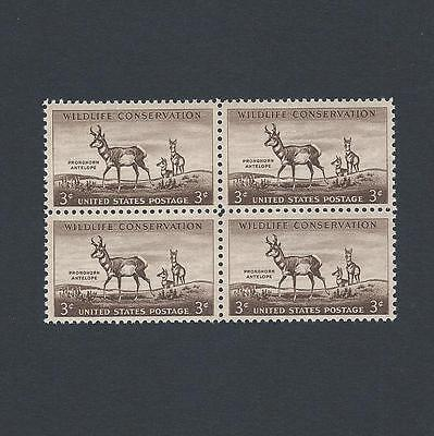 Wildlife Conservation  Pronghorn Antelope 62 Year Old Mint Set Of 4 Stamps