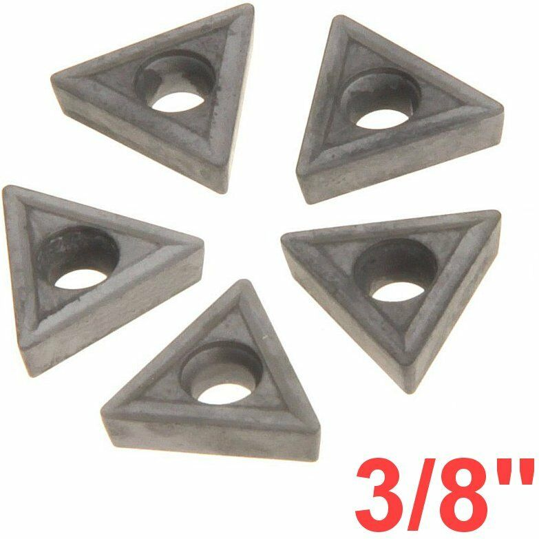 """3/8"""" C6 Carbide Insert for Indexable Lathe Toolholder Triangle"""