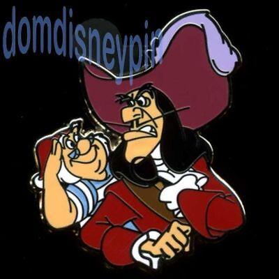 Disney Pin *Villain & Sidekick* Collection - Captain Hook & Mr. Smee! (Disney Hook)