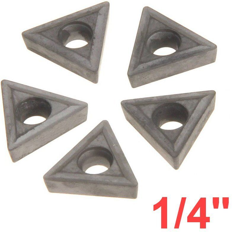 """1/4"""" C6 Carbide Insert for Indexable Lathe Toolholder Triangle"""