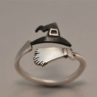 Cute Halloween Ghost Witch Broom Finger Ring Open Rings Party Cosplay Jewelry](Halloween Witch Fingers)
