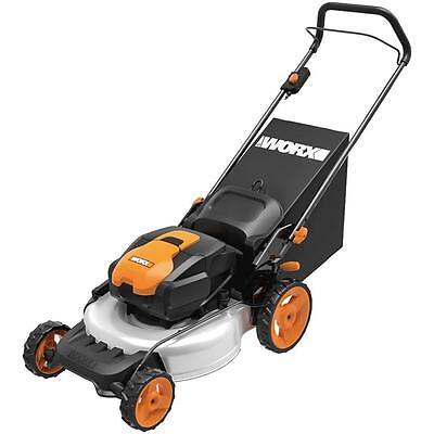 "WG772 WORX 56V 19"" Lithium-Ion 3-in-1 Cordless Mower with IntelliCut"