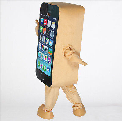 2018 New Brown Mobile advertising Cell Phone Adult Mascot Cosplay Costume - Cell Phone Costume