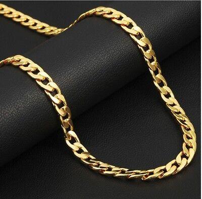 Goldkette 4MM Männer Panzerkette vergoldet für Herren Damen HipHop Biker Kette