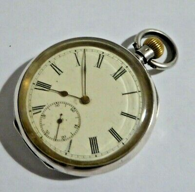 Gent's Vintage Omega 935 Silver Open Face Hand Winding Mechanical Pocket Watch