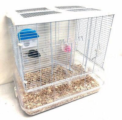 3-Level Transparent Clear Cage Gerbil Guinea Pig Habitat Rod
