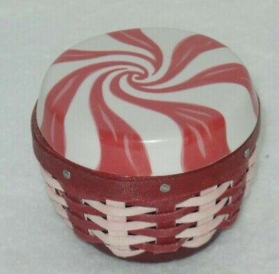 Used, LONGABERGER 2012 Collectors Club Miniature Sweets PEPPERMINT BASKET w/ Lid for sale  Norcross