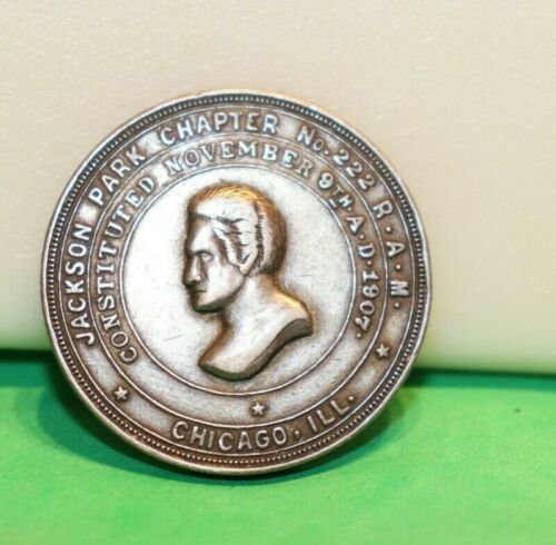 Chicago, Ill., Jackson Park Chapter No. 222 R.A.M., One Penny Mason Silver Token