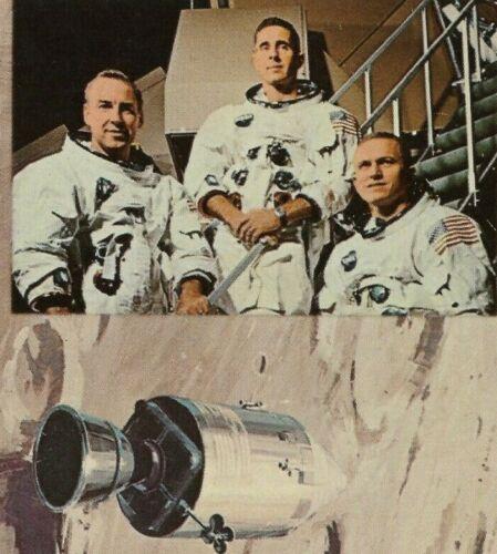 NASA Apollo 8 Prime Crew, Lovell, Borman, Anders Lunar Orbit 1968 VNTG Postcard