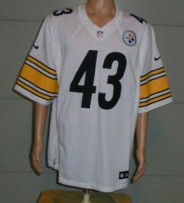 Troy Polamalu, #43 Pittsburgh Steelers XL Nike On Field Football Jersey Sewn On