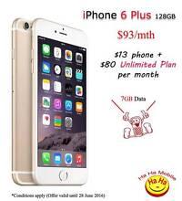 New Unlocked iPhone 6 Plus 128GB Unlimited Australian Calls Plan Auburn Auburn Area Preview