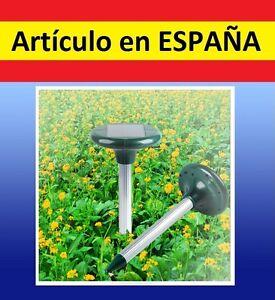 Ahuyenta plagas por ultrasonidos con energia solar topos for Ahuyentar ratas jardin