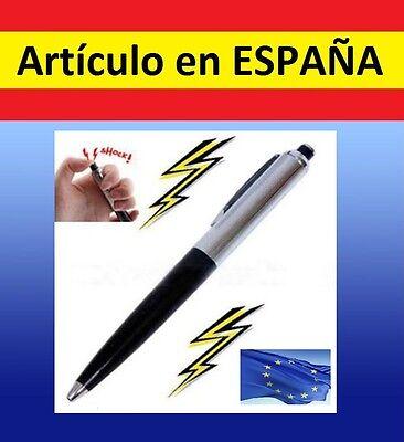 BROMA Boli descarga electroshock calambre regalo electrica metal pen juguete toy
