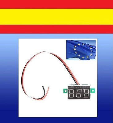 VOLTIMETRO medidor panel voltaje DIGITAL DC 0-100V coche moto camion cn 3...