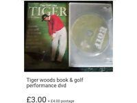 Golf performance dvd & tiger woods golf book