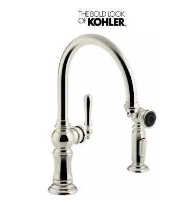 Kohler K-99262-SN Artifacts 2-Hole Kitchen Sink Faucet, Polished -