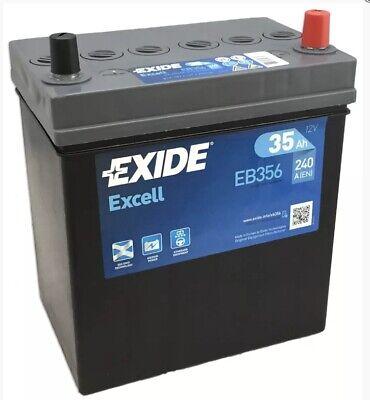 EB356 EXIDE EXCELL CAR BATTERY 054SE FITS Kia Picanto 1.1 Petrol 2005