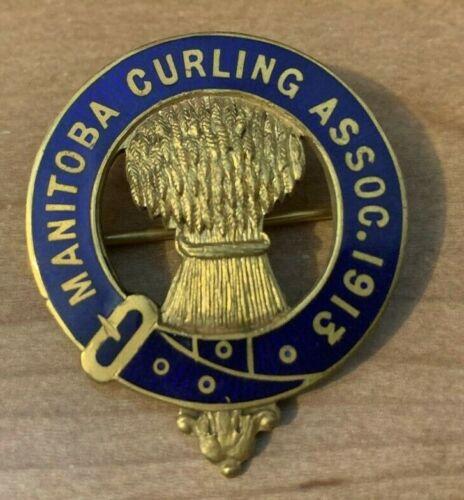 Curling Pin - Manitoba Curling Association - 1913 D.R. DINGWALL LTD