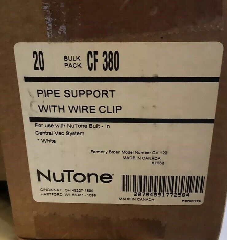"""CF 380 Central vacuum 2"""" Pipe Hangers With Wire Support 20/box"""