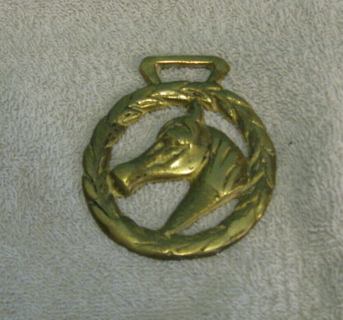 Vintage Horses Head Brass Medallion Horse Harness Ornament Rare