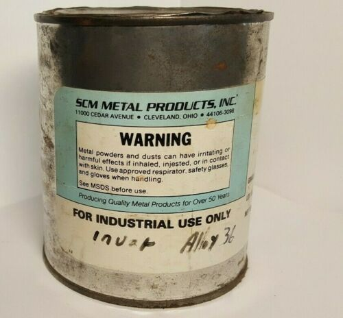 5lbs INVAR 36 Alloy (Fe36Ni)  Flame, Combustion, Plasma Spray Powder (NOS)