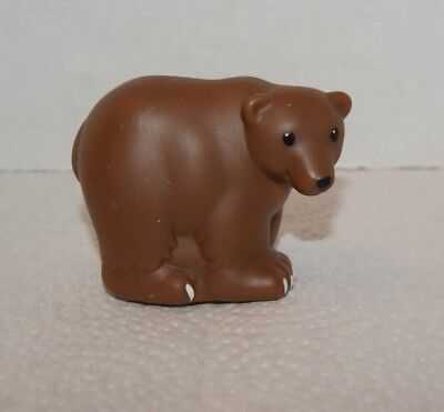 Fisher Price Little People Zoo Talkers Brown Bear Figure (Replacement Part)