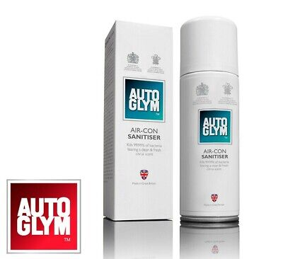 Autoglym Air Con Sanitiser Conditioning System Cleaner & Freshener 150ml Bomb
