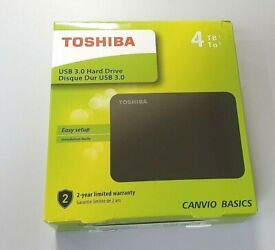 Toshiba Canvio Basics 4TB,External,2.5 inch (HDTB440EK3CA) Hard Disk Drive