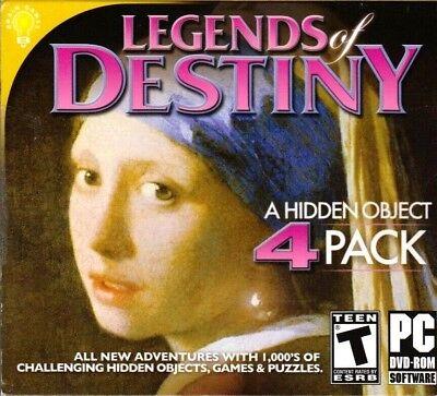 Computer Games - Legends Of Destiny Hidden Object 4 Pack PC Games Windows 10 8 7 XP Computer