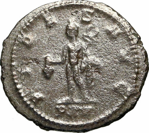 GALLIENUS Authentic Ancient 264AD Original Roman Coin MERCURY HERMES i84921