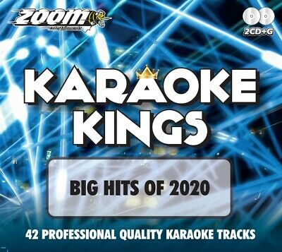 Zoom Karaoke Kings - Big Chart Hits of 2020 - Double CD+G Set - 42 Pop Tracks