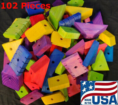 102 XLarge Wooden Parts for Parrot Toys Bird Toys Macaw Amazon Senegal Cockatoo