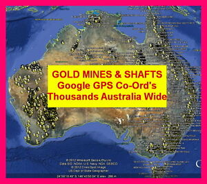 GOLD LOCATIONS GOOGLE MAPS GPS WAYPOINTS AUS Wide All states minelab Garmin GPX
