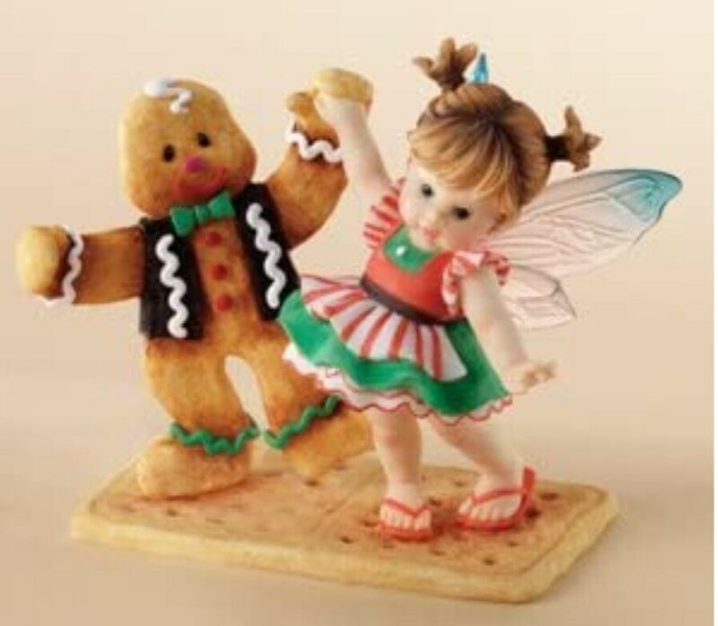 2006 Enesco My Little Kitchen Fred and Ginger Fairie Ginger Bread Man 4005698