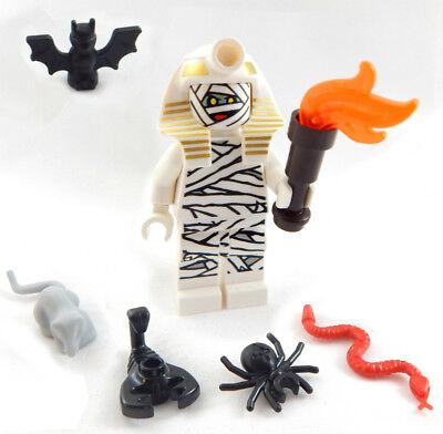 NEW LEGO MUMMY MINIFIG halloween figure monster minifigure pharaoh ghost bat - Halloween Legos