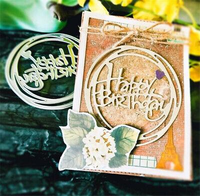 Stanzschablone Happy Birthday Kreis Weihnachten Hochzeit Geburtstag Karte Album