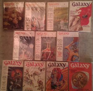 Galaxy Science Fiction: Complete Year Set 1969 11 issues