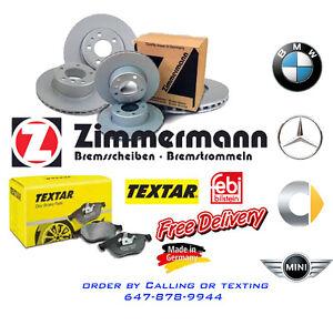 MERCEDES BENZ -BMW- SMART- MINI Brake System (Rotor/Pad/Sensor) Windsor Region Ontario image 1
