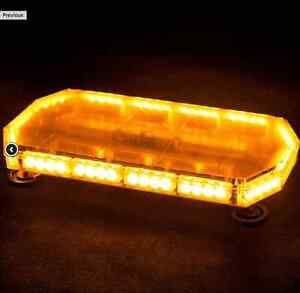 44 LED Amber Light Top Emergency Warning Flash Strobe Light Truc