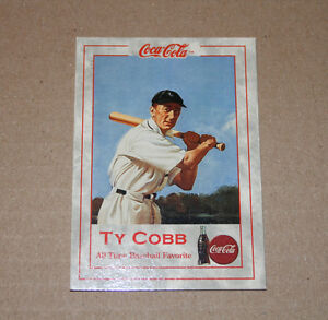 Coca Cola Coke Series 1 Case Card Ty Cobb TC-1