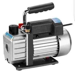 3CFM 1/4HP Rotary Vane Deep Vacuum Pump HVAC Tool Air AC R410a R