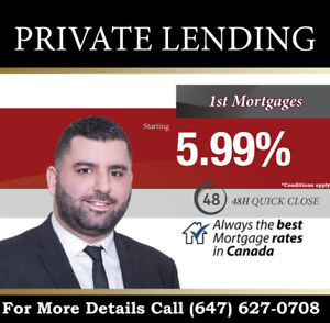 PRIVATE MORTGAGE !!!! starting 5.99%