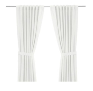 "84"" IKEA RITVA White Curtains - Gently Used"